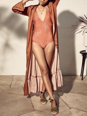 Asha Eleven Umdanso Kimono with Supine Swimsuit Bloom 1