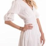 Smudj Wayfarer Dress White Seersucker Shopfront