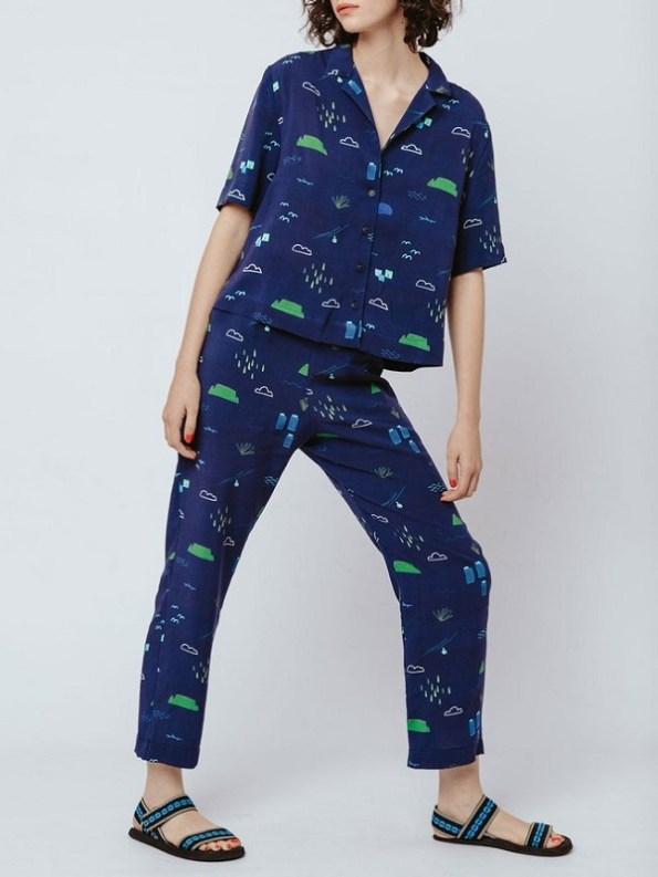 Good Clothing Summer Shirt and Kandy Pants Navy Cape Town Scene