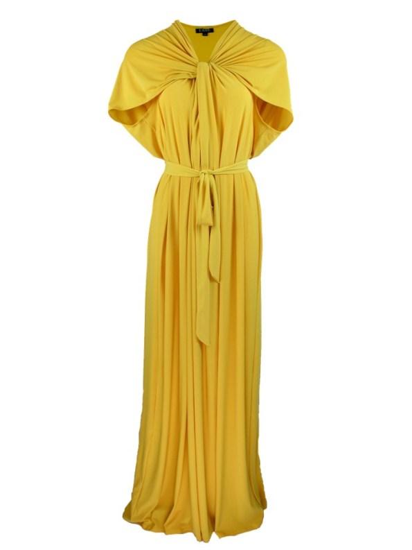 Erre Twist Dress Yellow Shopfront
