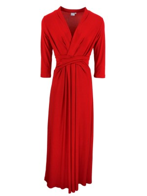 JMVB Kate Maxi Dress Red