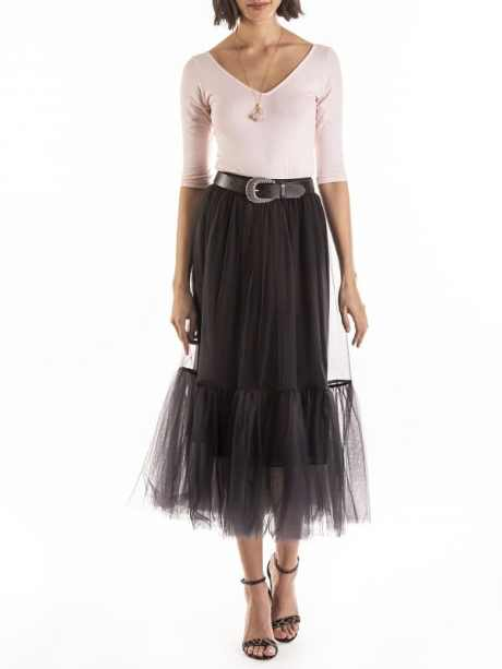 Black mesh skirts