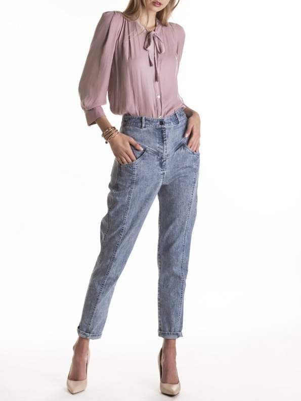 Smudj Maysi Jean Vintage Stone Wash Modeled Front