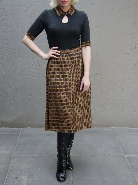 Rust brown midi skirt South Africa