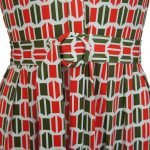 African Style Story Shirt Dress Green and Red Doors