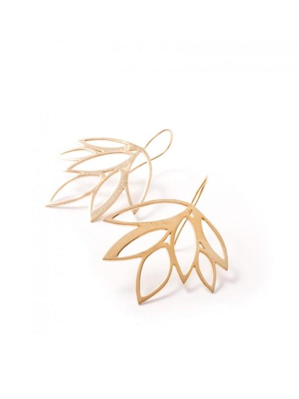 Kirsten Goss Balti Earrings Gold Side