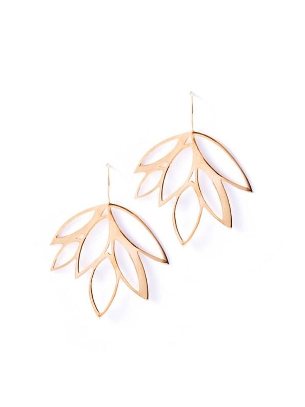 Kirsten Goss Balti Earrings Rose Gold