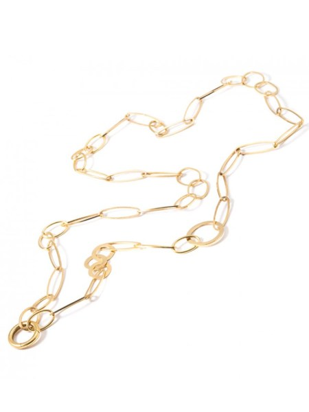 Kirsten Goss Lifesaver Mixed Zip Line 80 Necklace
