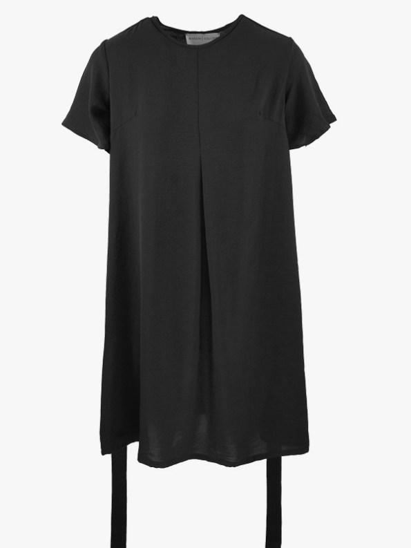 Mareth Colleen April4Mom Dress Black Loose Belt