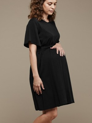 Mareth Colleen April4Mom Dress Black Side