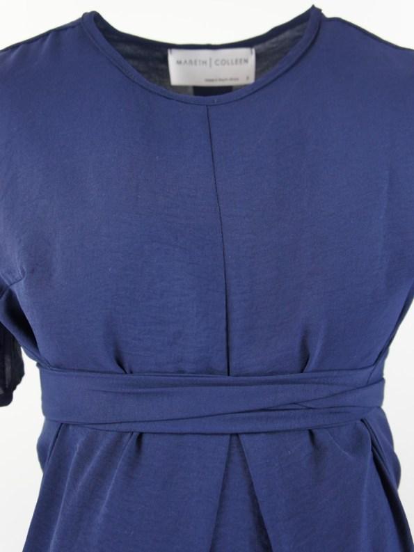 Mareth Colleen April4Mom Dress Navy Closeup