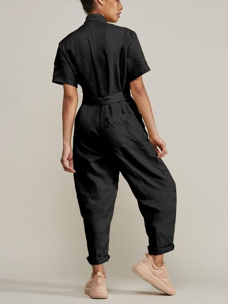 Mareth Colleen Boilersuit Black Back