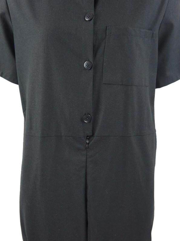 Mareth Colleen Boilersuit Black Detail
