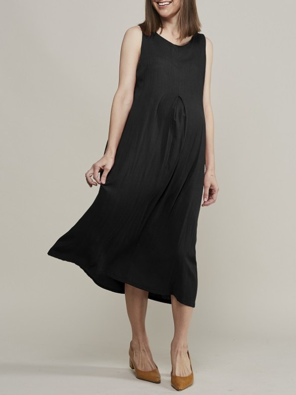 Mareth Colleen Camille4Mom Dress Black Front 2