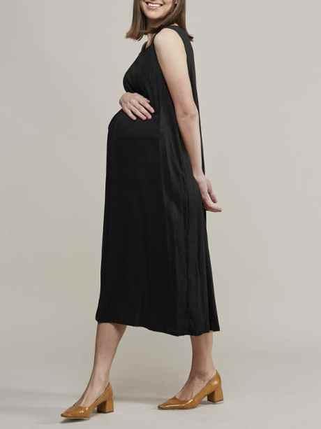 Mareth Colleen Camille4Mom Dress Black Side