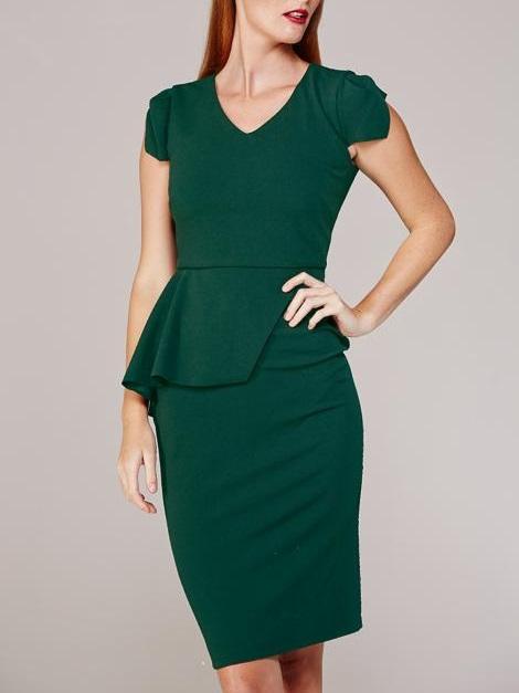 Mareth Colleen Lock Dress Green Front
