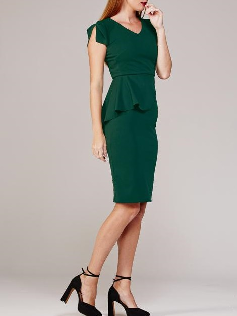 Mareth Colleen Lock Dress Green Side