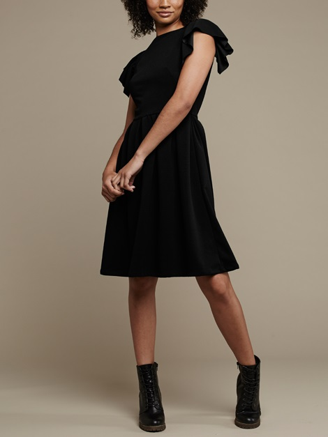 Mareth Colleen Tam Dress Black Side
