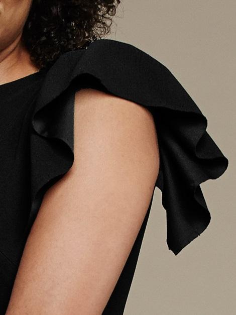 Mareth Colleen Tam Dress Black Sleeve