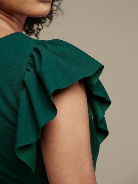 Mareth Colleen Tam Dress Green Sleeve