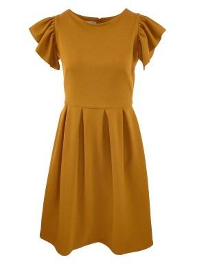 Mareth Colleen Tam Dress Mustard