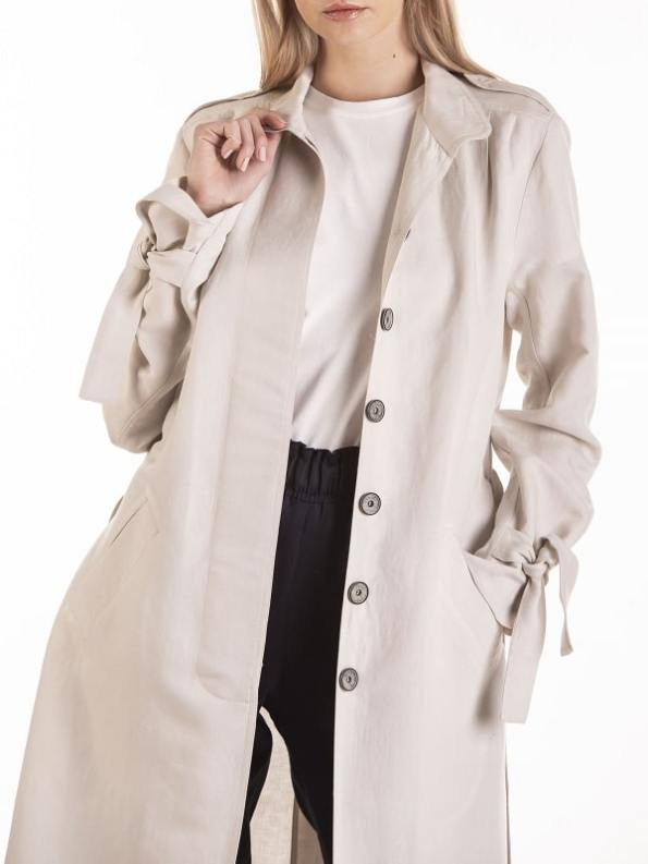 Smudj Mary Trench Bone Modeled Cropped