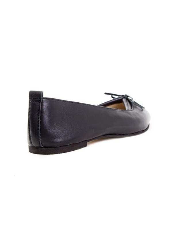 House of Cinnamon Monica Pointed Flat Navy Back