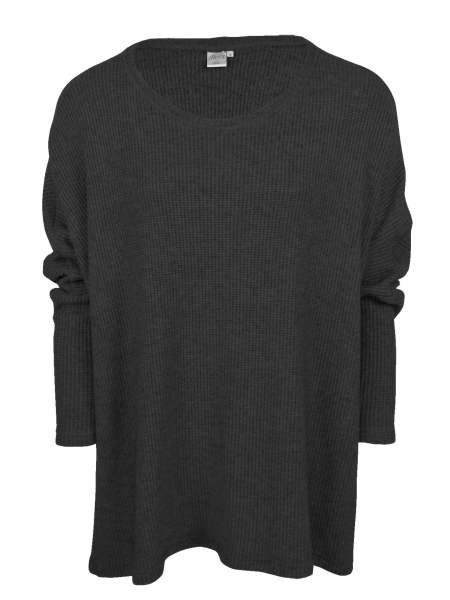 black over-sized knitted top
