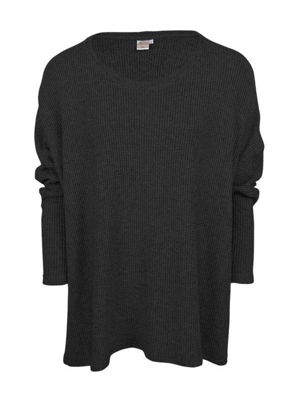 JMVB Goodall Boxy Knit Sweater Black