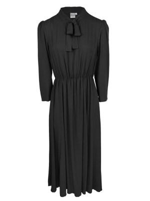 Black Pussy-bow Maxi Dress
