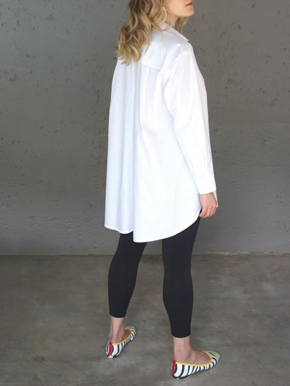 JMVB Rowling Oversized Shirt White Back