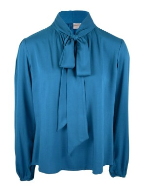 Blue workwear blouse with black pants South Africa