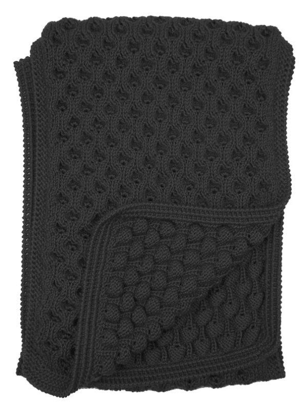 Erre Bubble Knit Scarf Black Texture