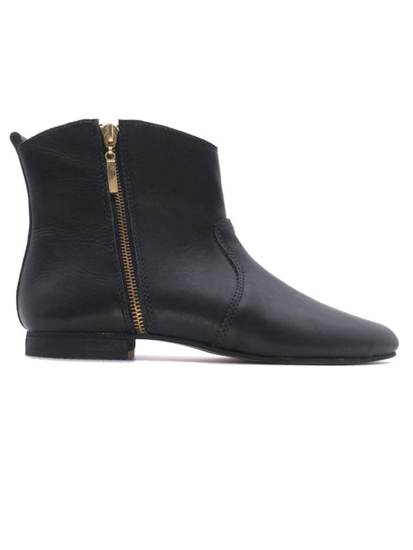 House of Cinnamon Charlotte Cowboy Boot Black