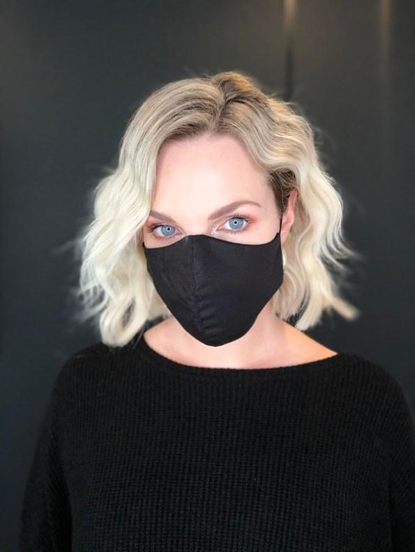 JMVB Face Mask Black Modeled