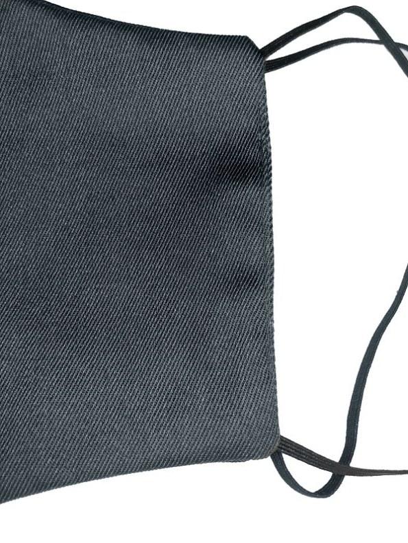 JMVB Face Mask Black Twill Close Up