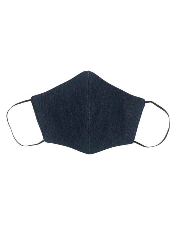 JMVB Face Mask Blue Denim Front