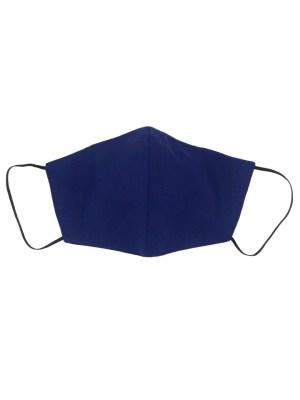 Royal blue cotton face mask
