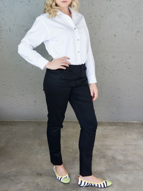 JMVB Hynde Boyfriend Shirt White Front