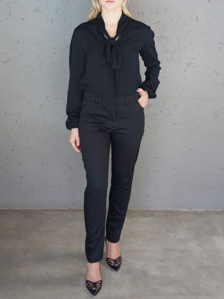 Black bow blouse with black pants South Africa