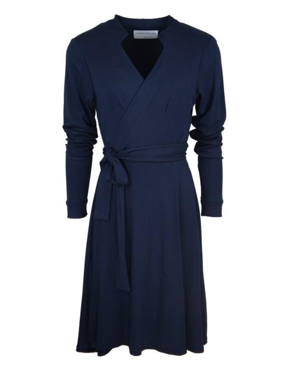 Mareth Colleen Henry Wrap Dress Navy