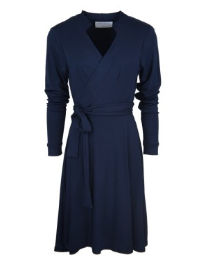 Navy wrap dress made in South Africa