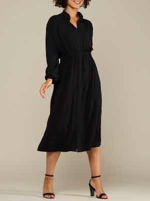 Black long sleeve Winter Dress Midi length South Africa