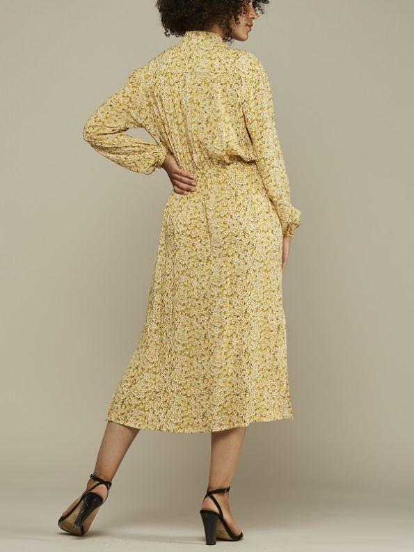 Mareth Colleen Isla Dress Yellow Floral Back