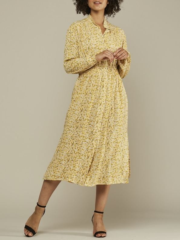 Mareth Colleen Isla Dress Yellow Floral Front 2