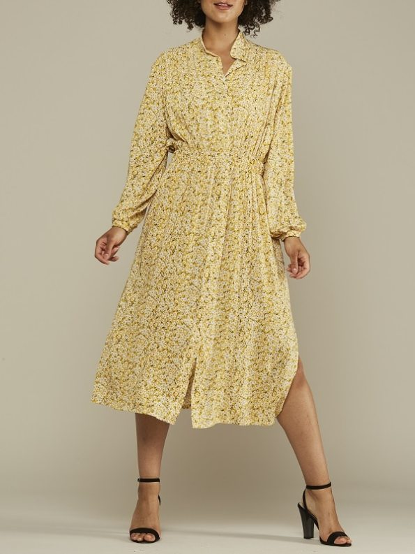 Mareth Colleen Isla Dress Yellow Floral Front 3