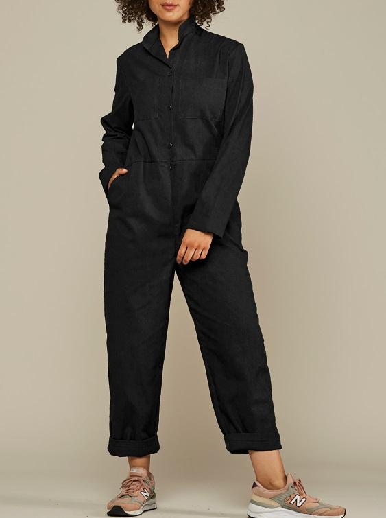Mareth Colleen Long Sleeve Boilersuit Black Front