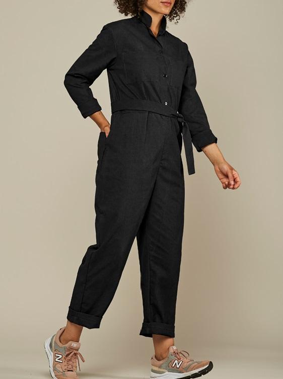 Mareth Colleen Long Sleeve Boilersuit Black Walk