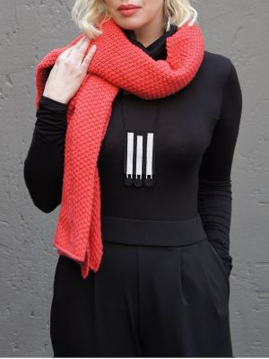 Model wearing black polo neck and Zulu love letter neckpiece South Africa