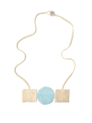 Zulu love letter necklace with white and blue beads South Africa